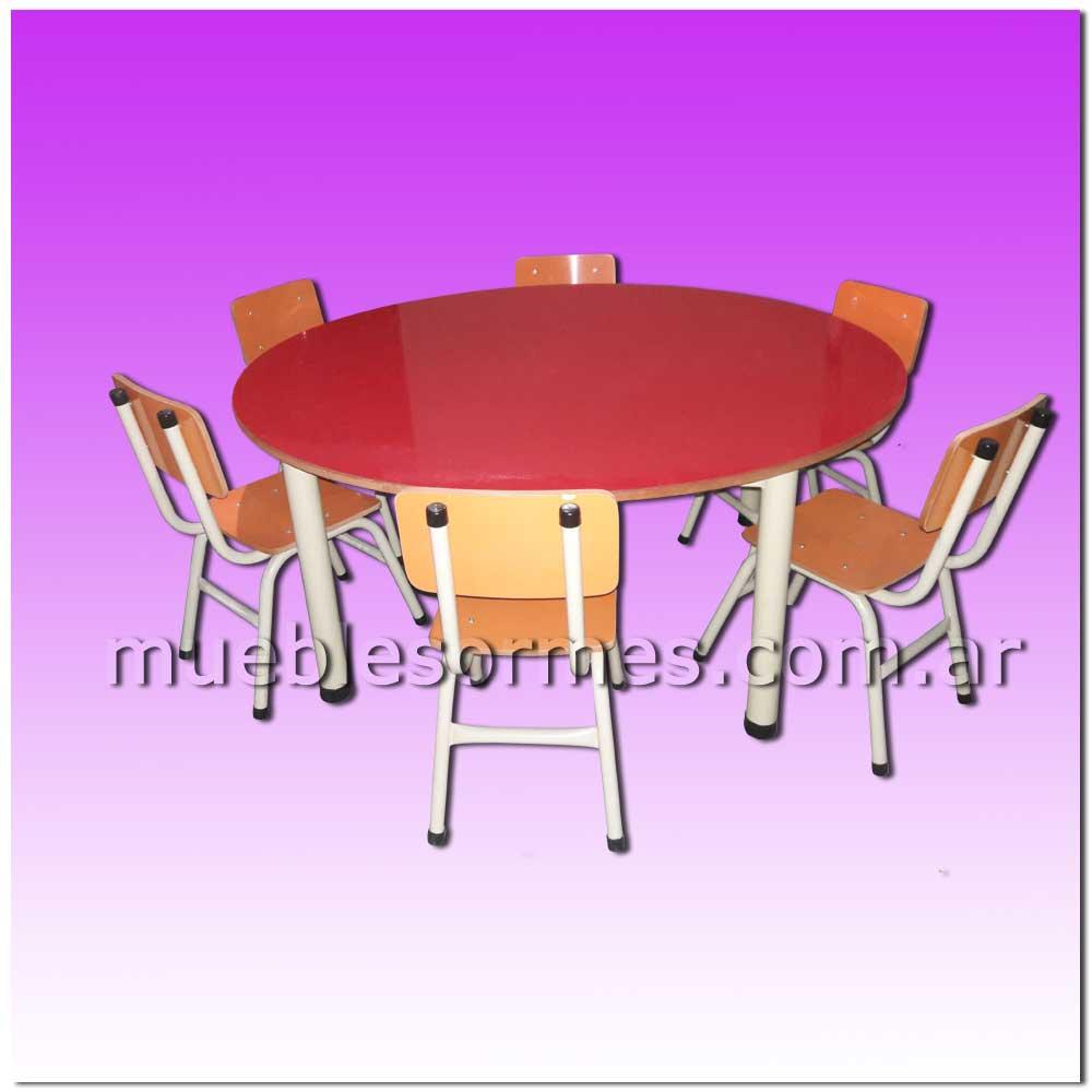 Muebles de nivel inicial mesa redonda para jard n de for Sillas para inicial