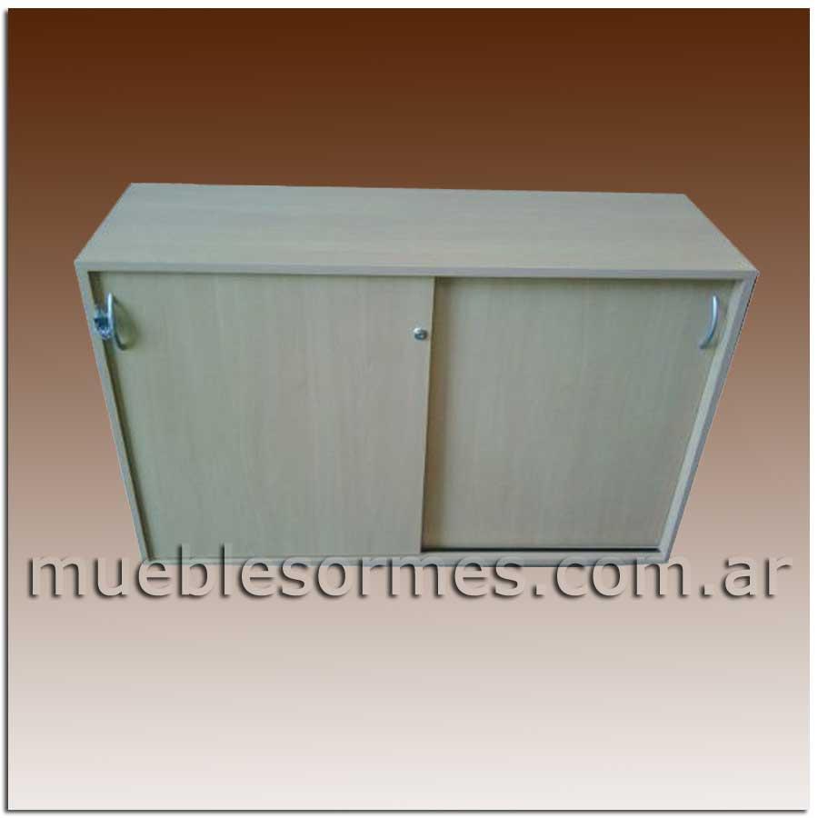 Muebles De Madera Mueble Con Puertas Corredizas # Muebles Para Nivel Inicial