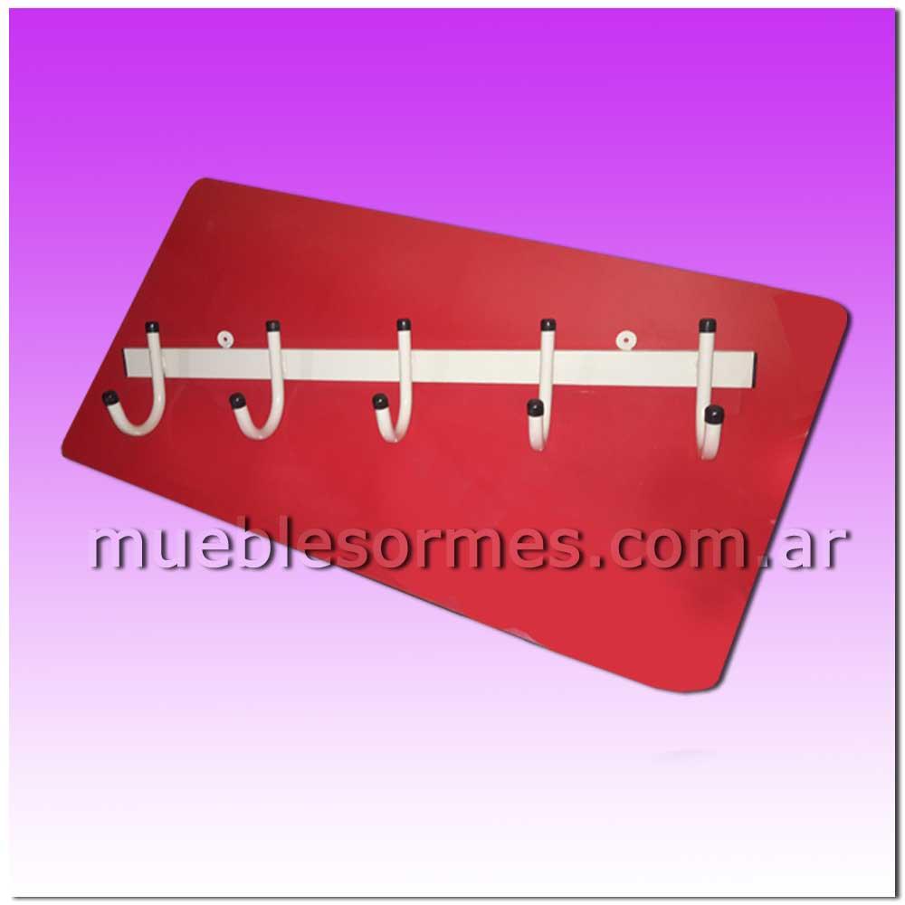 Rincones y accesorios perchero para pared 5 ganchos for Ganchos metalicos para percheros