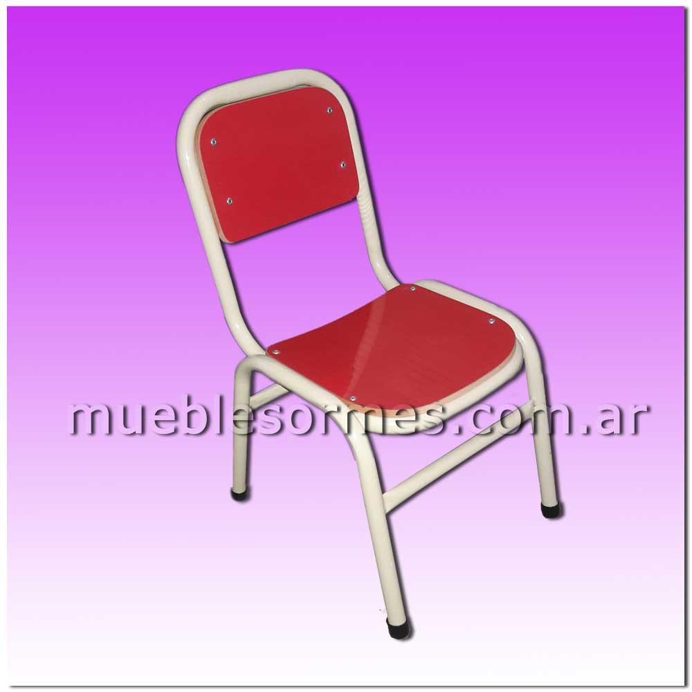 Muebles de nivel inicial silla jard n de infantes for Sillas jardin blancas